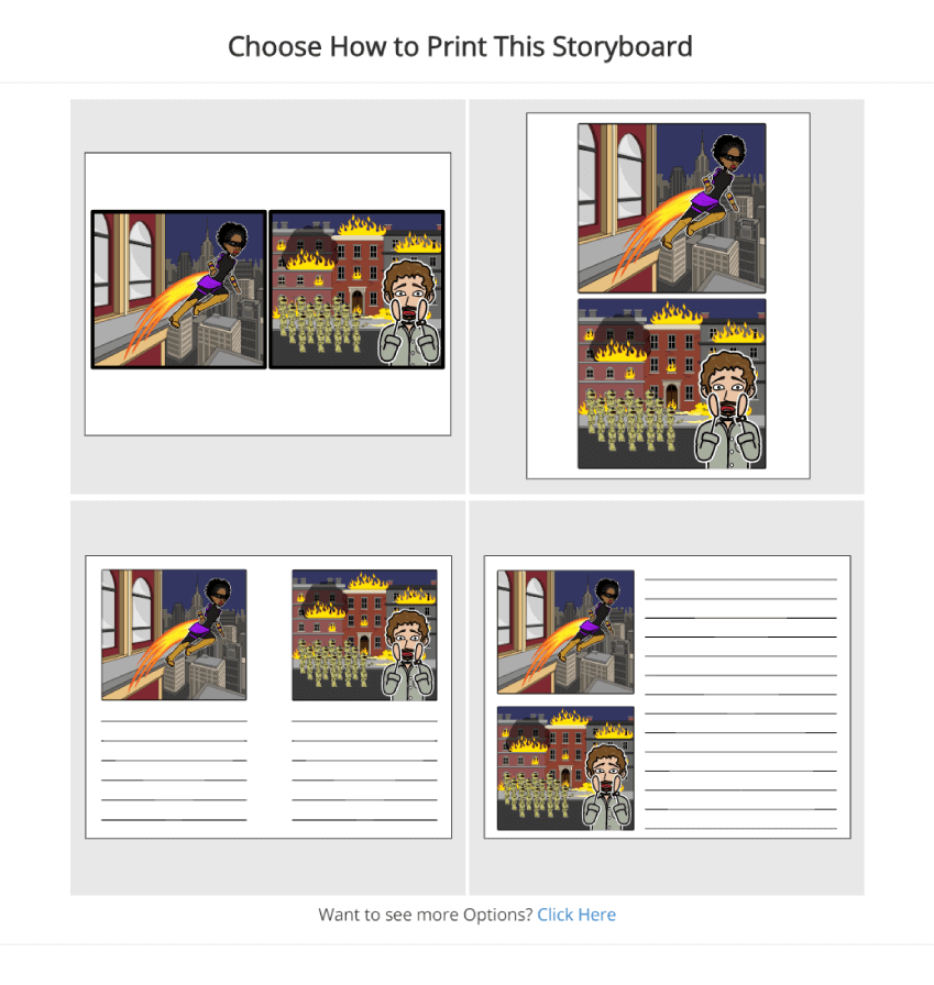 How to Print on Storyboard That