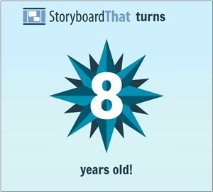 Big News! Storyboard That Gira Cinco Anos Velho!
