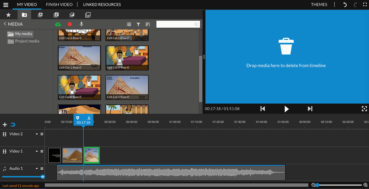 Add Storyboard Images to the Editing Timeline