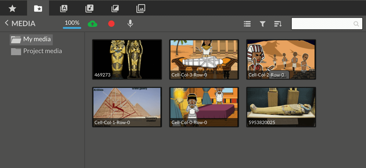 Upload Dine Storyboards til WeVideo