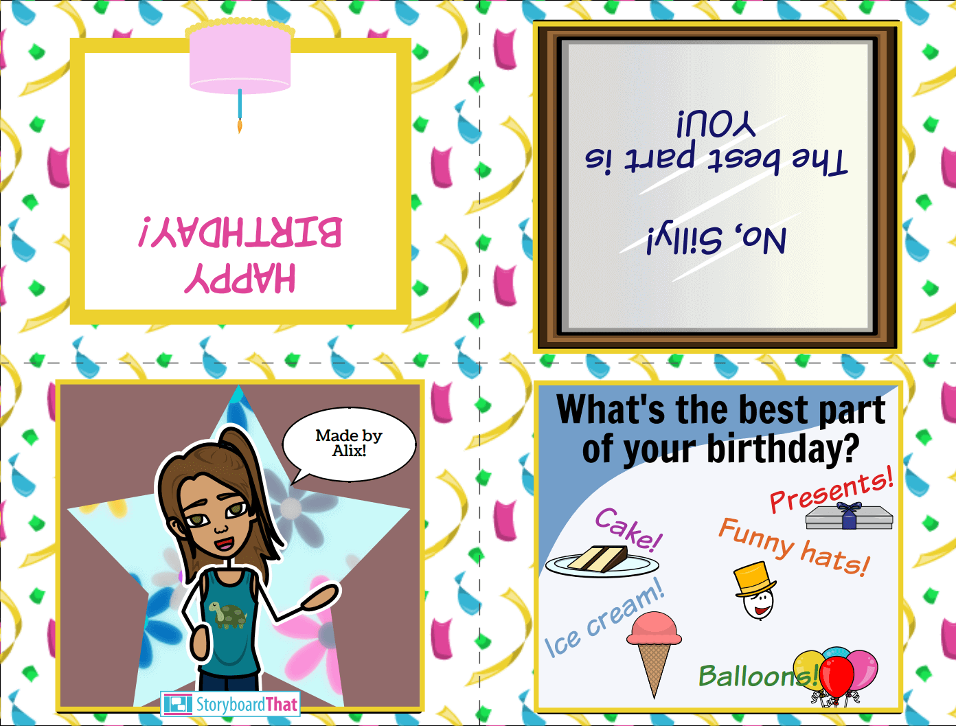Make a Birthday Card on Storyboard That!