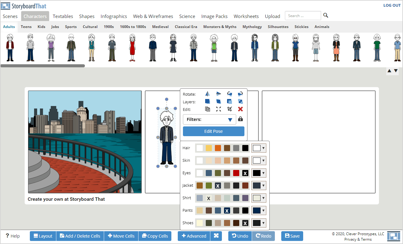 Using the Storyboard Creator