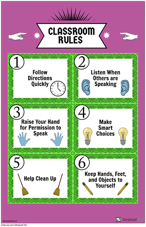 Classroom Rules Poster Example