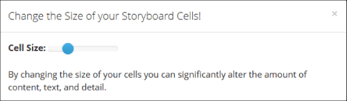 Wie Sie Cell Size in Storyboard-Software ändern