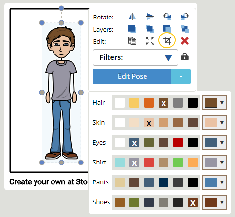 Como crop in storyboard software creator step 1