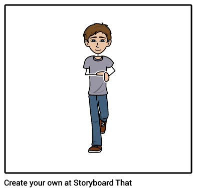 O ajudante do criador do software do storyboard levanta seus caráteres