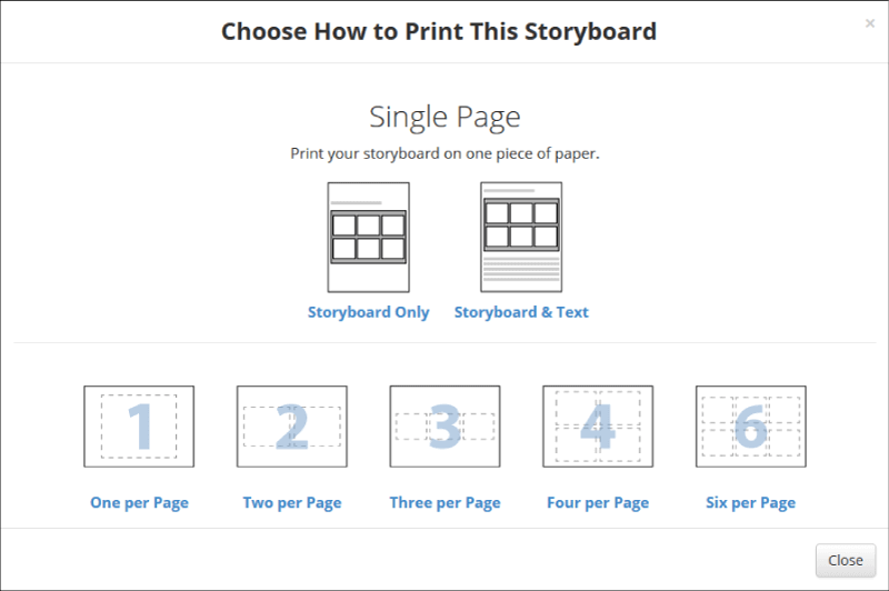how to print storyboard software - Step 2