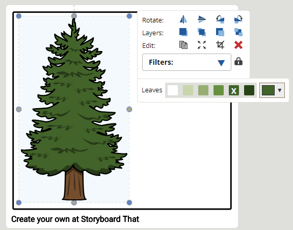 How to resize in Storyboard Software creator