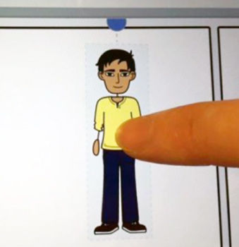 move characters and scenes with a tablet in storyboard software