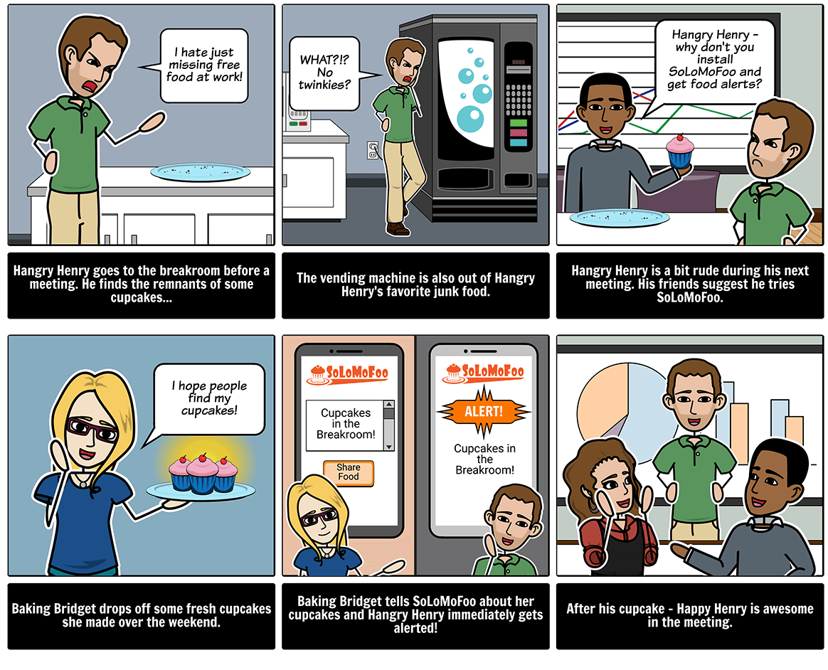 Create an elevator pitch with a storyboard