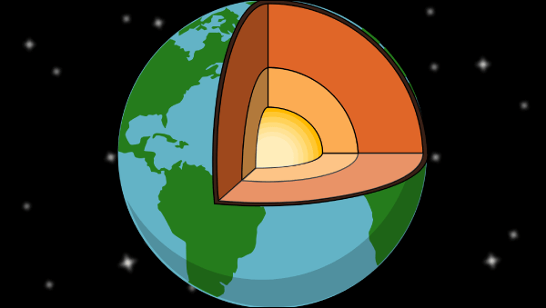 Image result for picture of the earth's layers