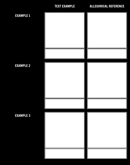 Text/Allegory Comparison
