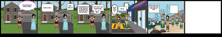 The Boston Tea Party        comic strip   By: Jaida Fox