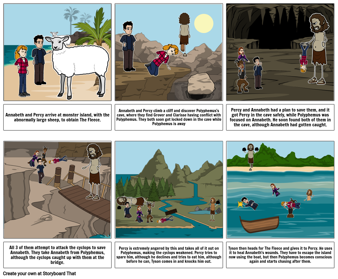Percy Jackson Chapters 14-15 Storyboard