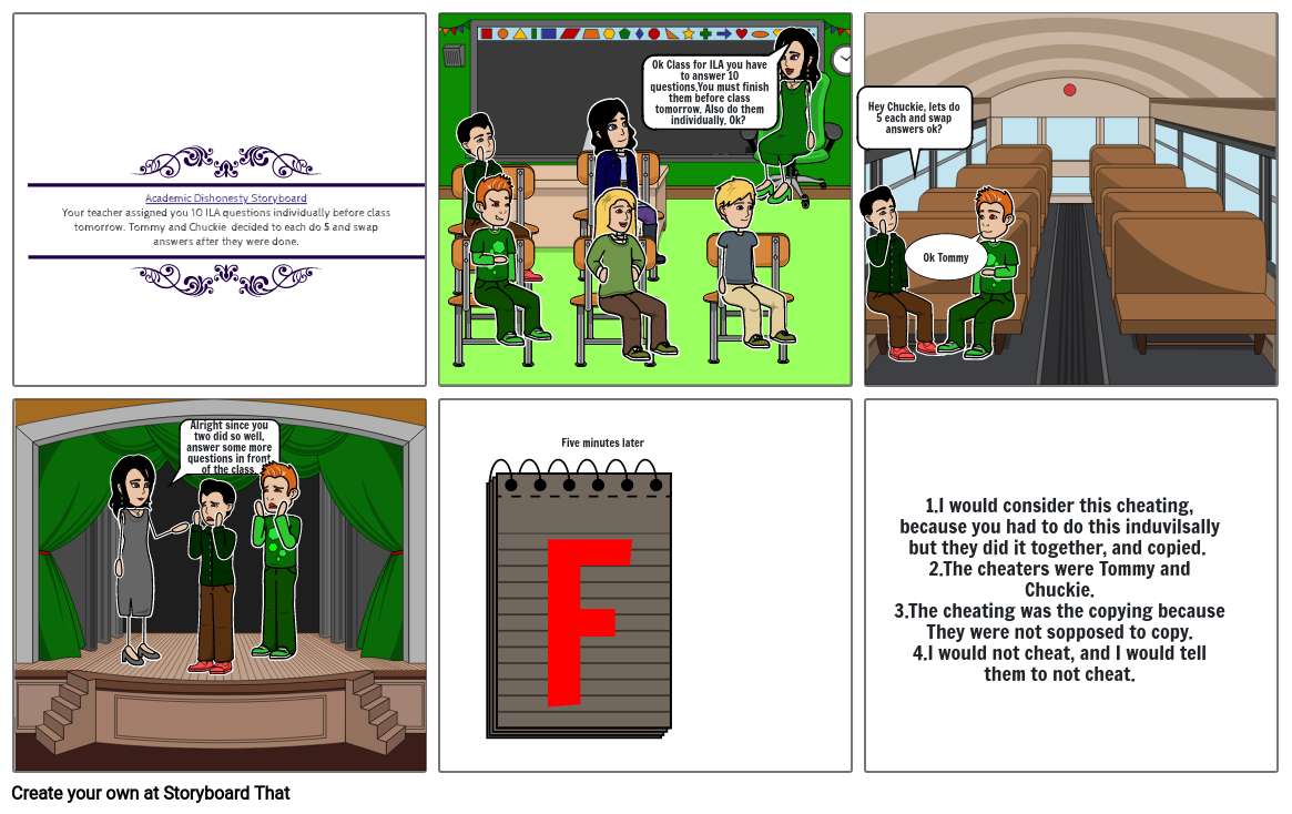 Acedemic Dishonesty Storyboard