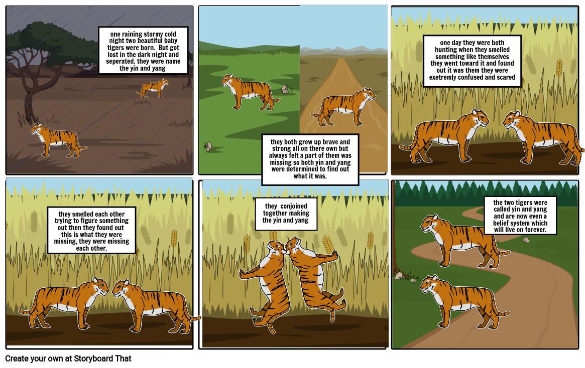 The Yin and Yang with tigers Comic