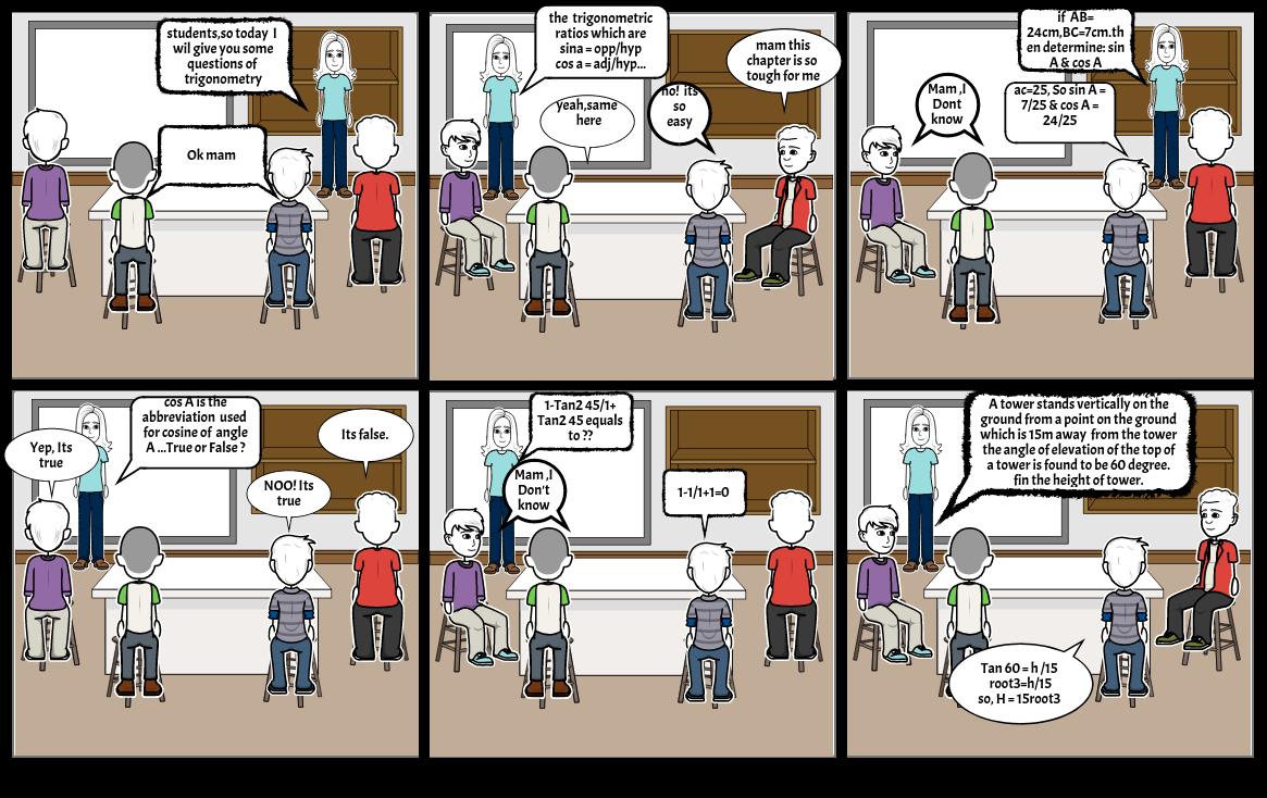 maths comic strip
