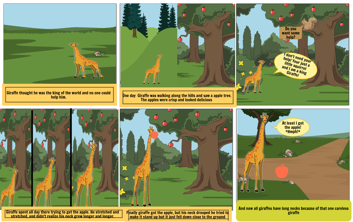 How giraffes got their long necks.
