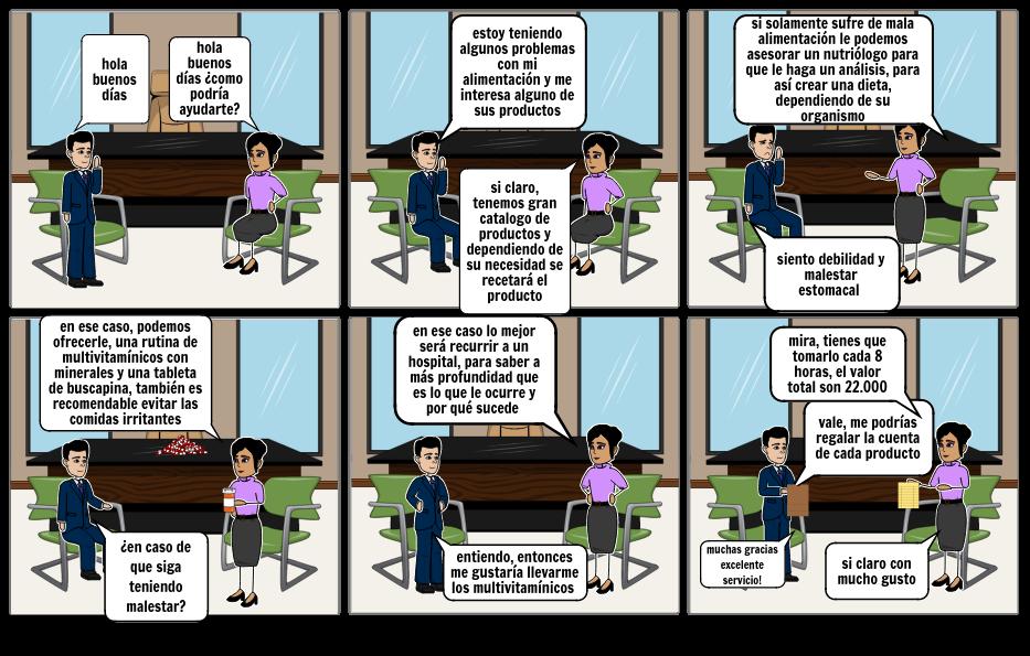 Historieta sobre solicitud de servicios