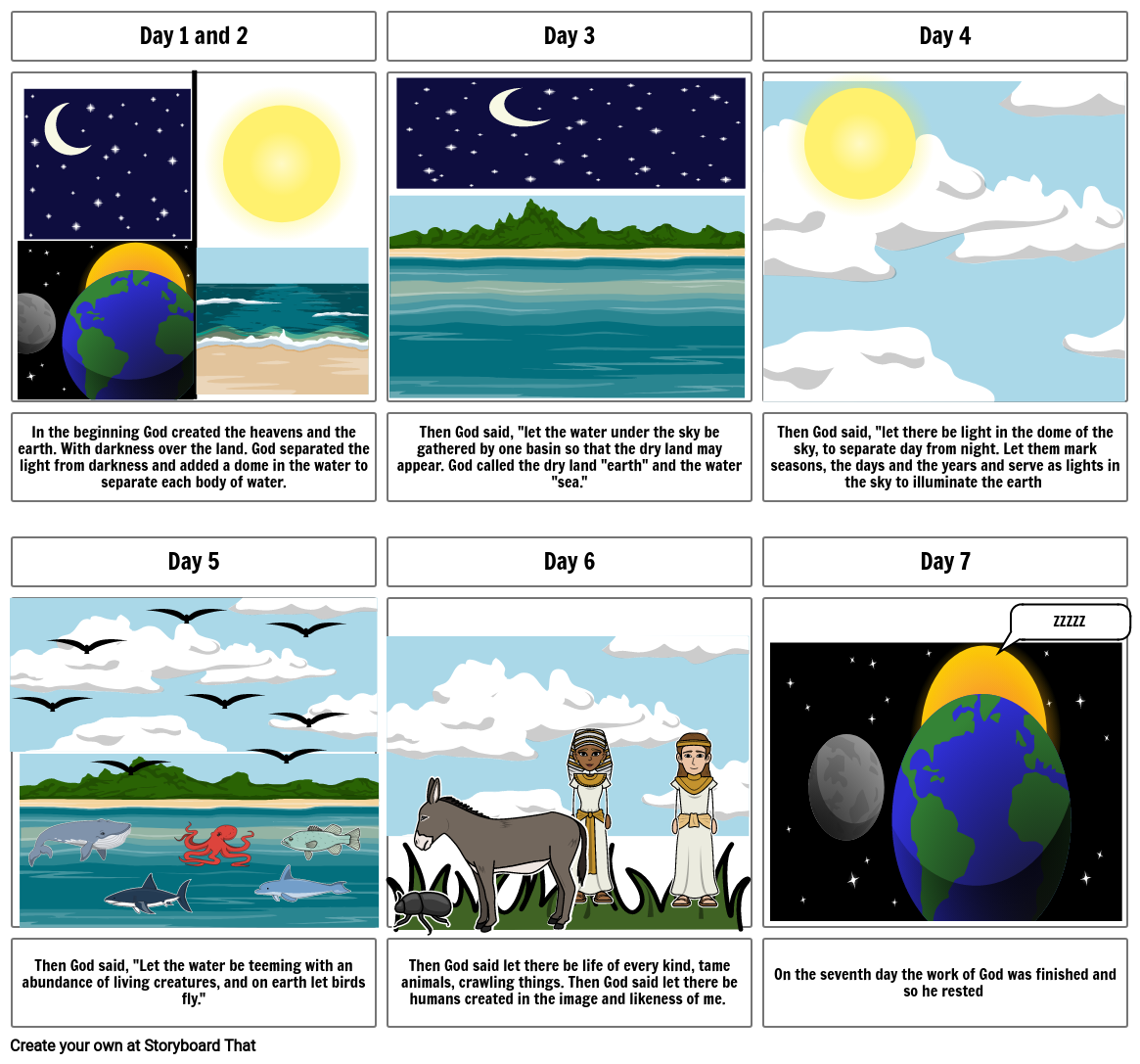 Creation Storyboard