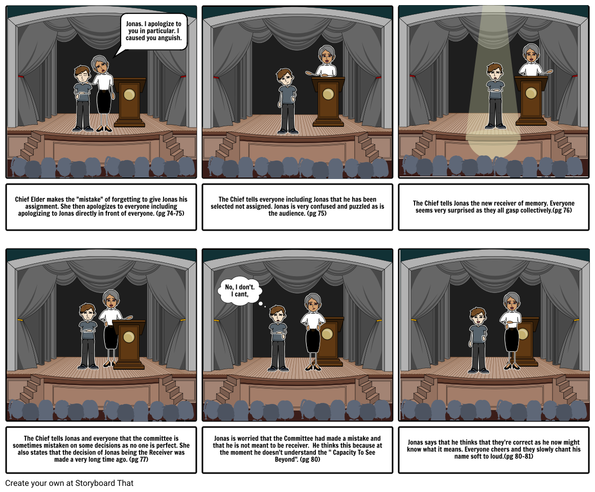 The Giver Chapter 8 Storyboard
