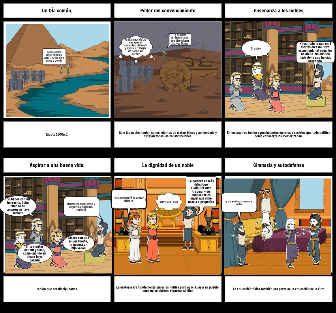 qué aprendían los egipcios?
