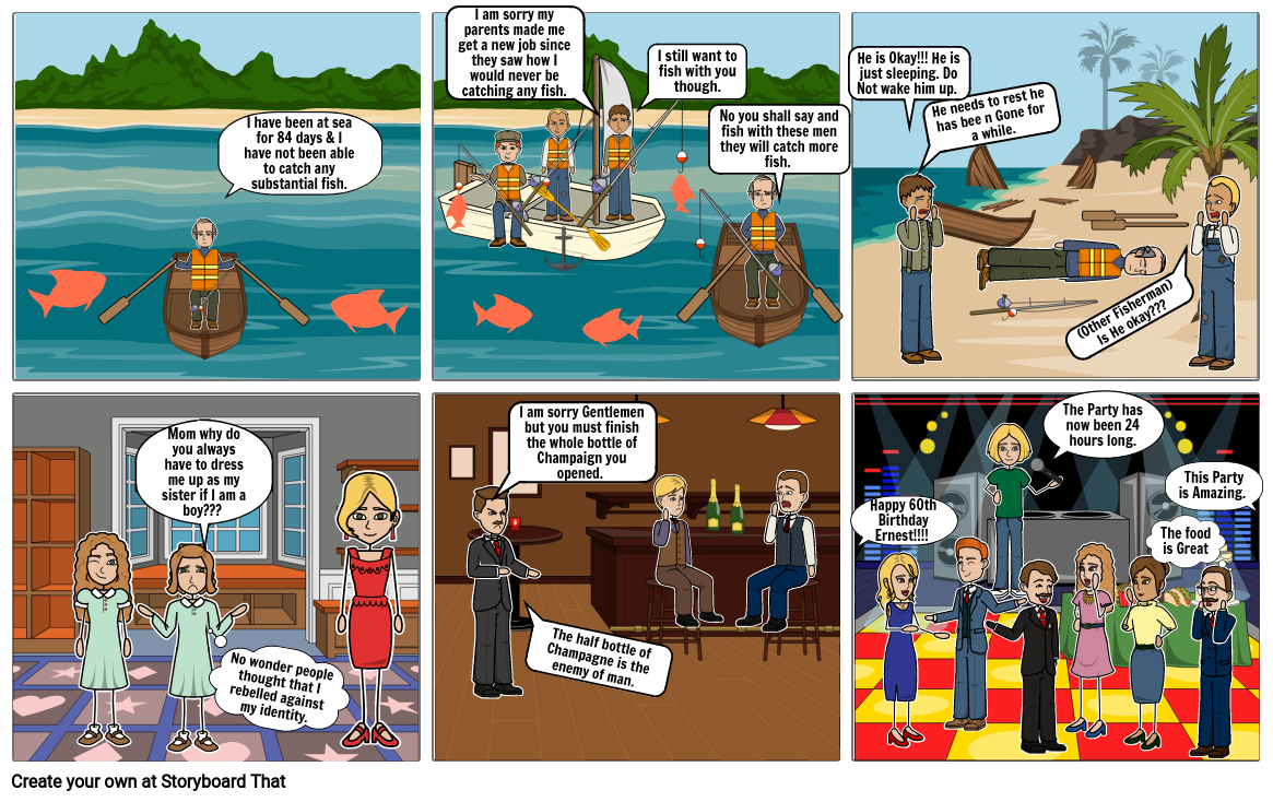 The Old Man and the sea story board