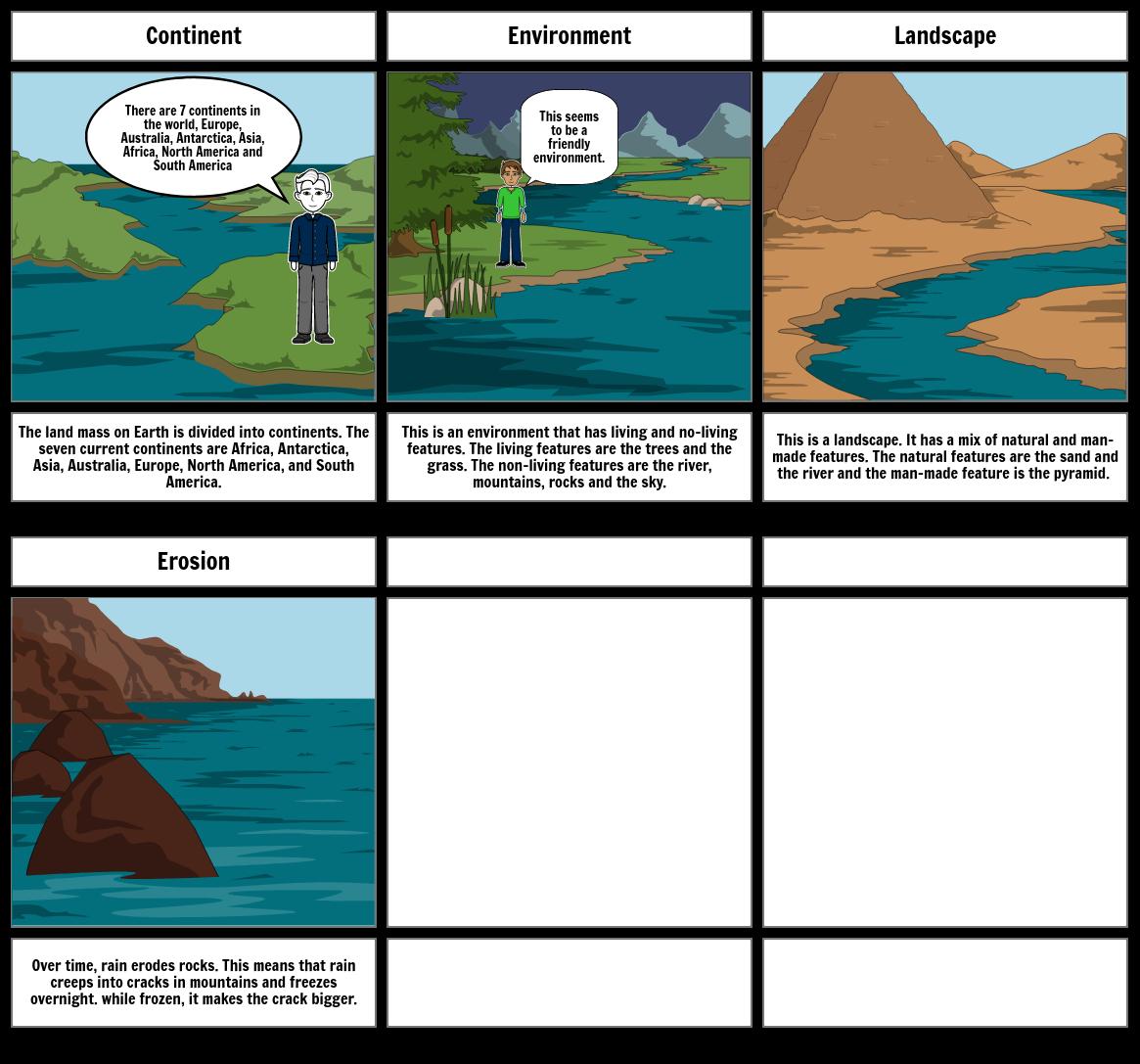 Geography storyboard