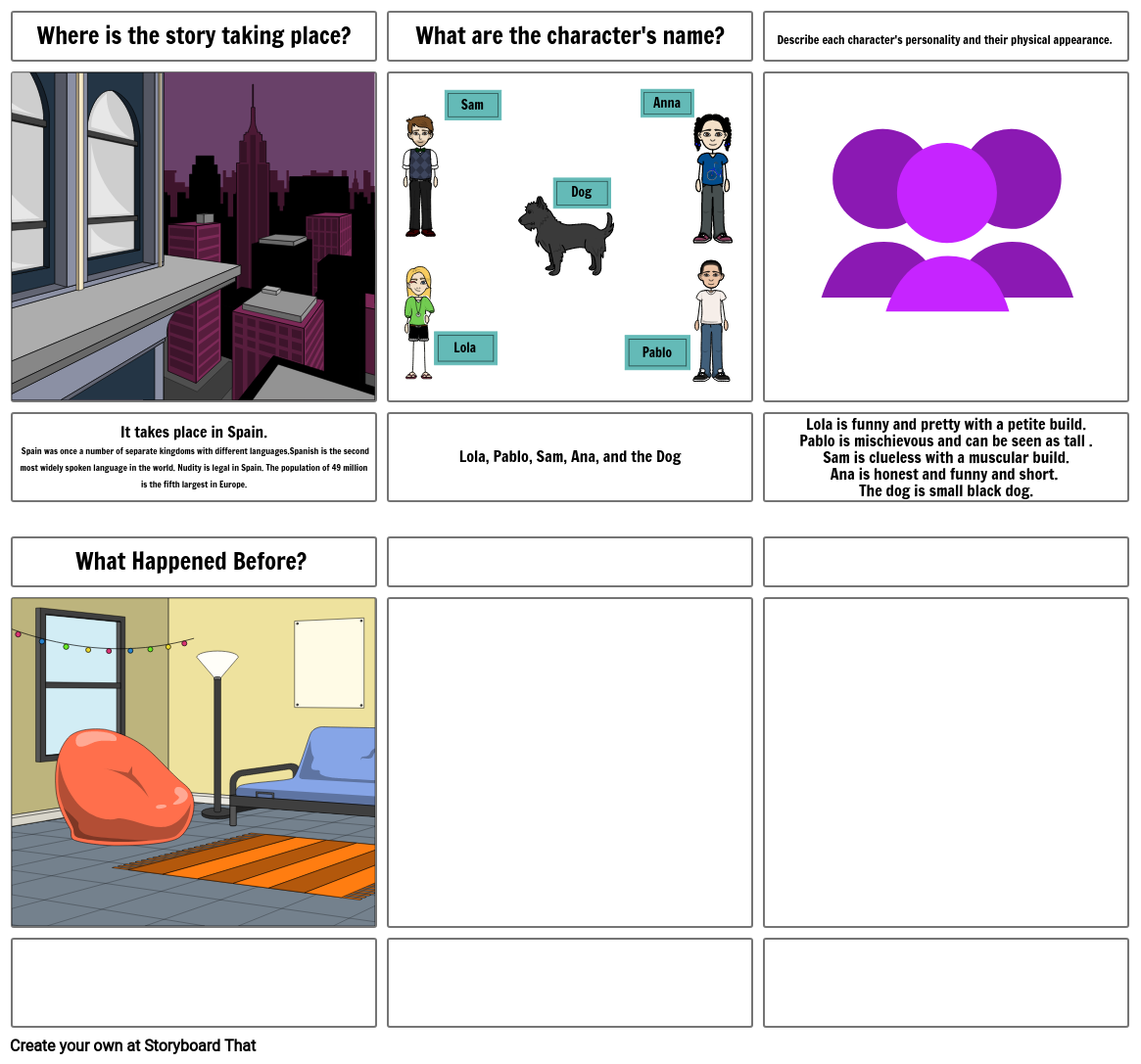 Extra's Storyboard Assignment