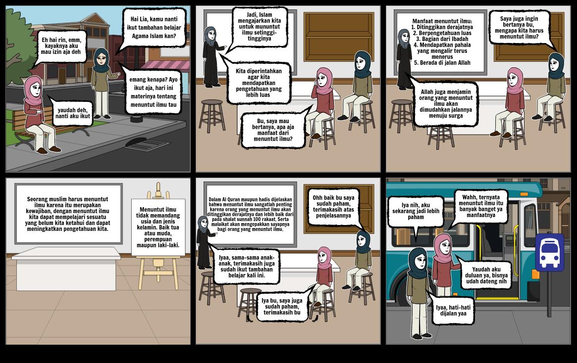 Storyboard Semangat Menuntut Ilmu