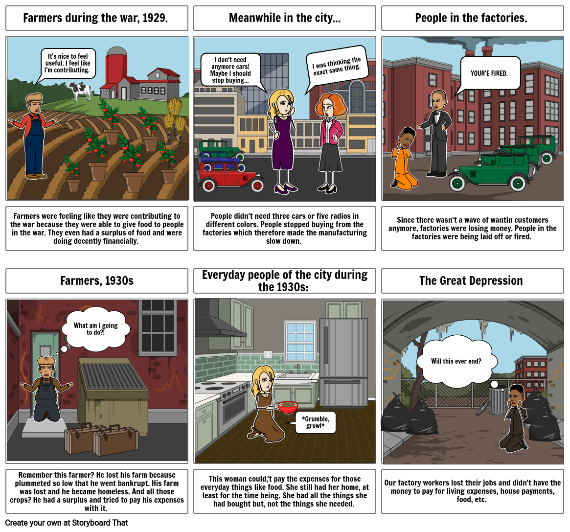 History: Great Depression Storyboard
