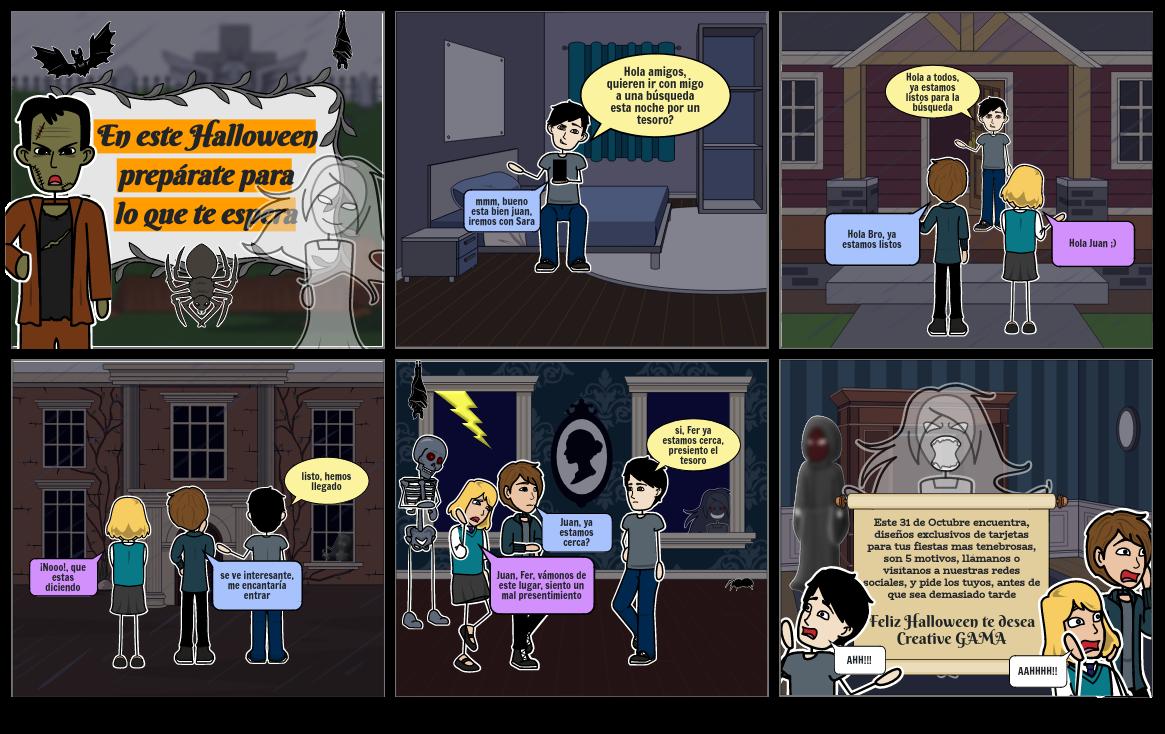 Storyboards Creative GAMA Halloween