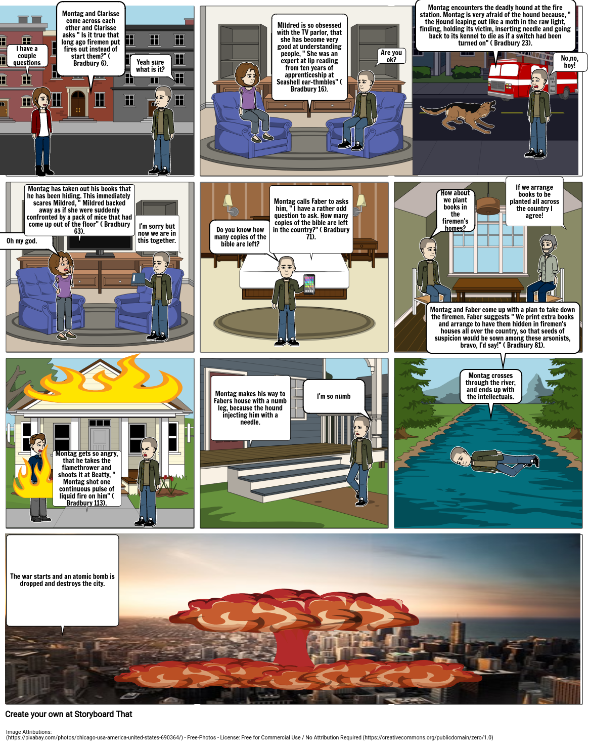 Fahrenheit 451 cartoon project