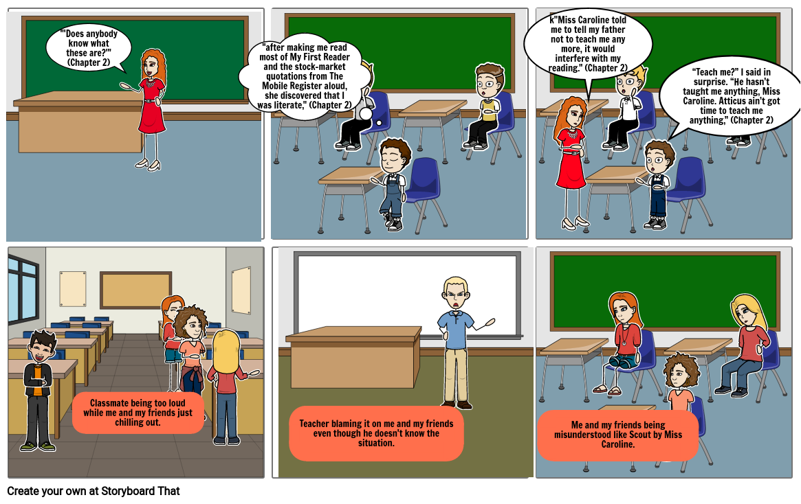 TKAM Conflict Storyboard By: Veronica
