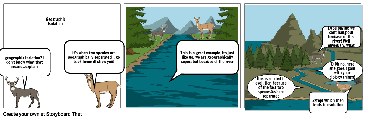 Story board- Geographic Isolation