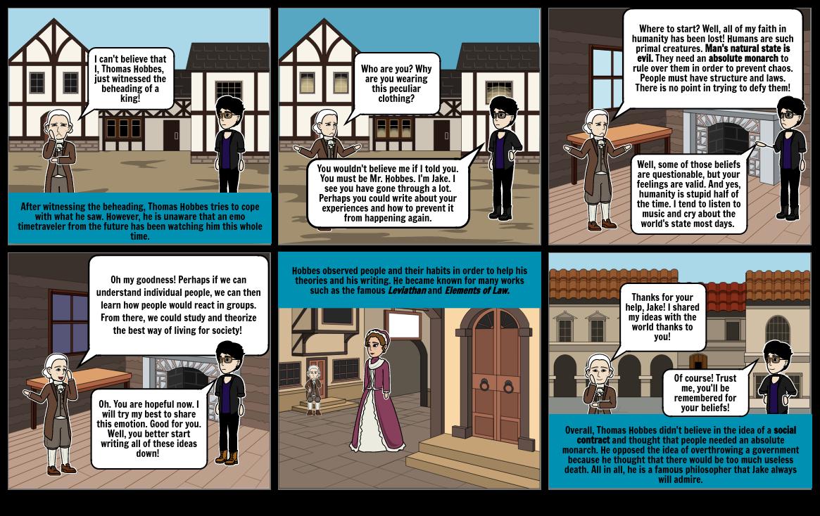 Hobbes-World History comic