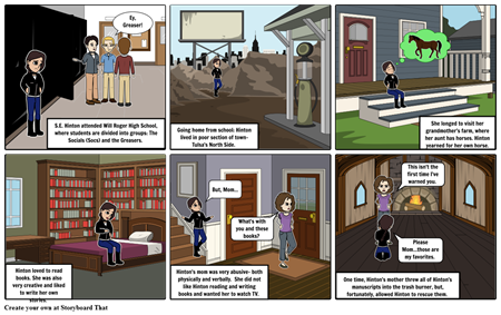 S.E. Hinton Author Strip