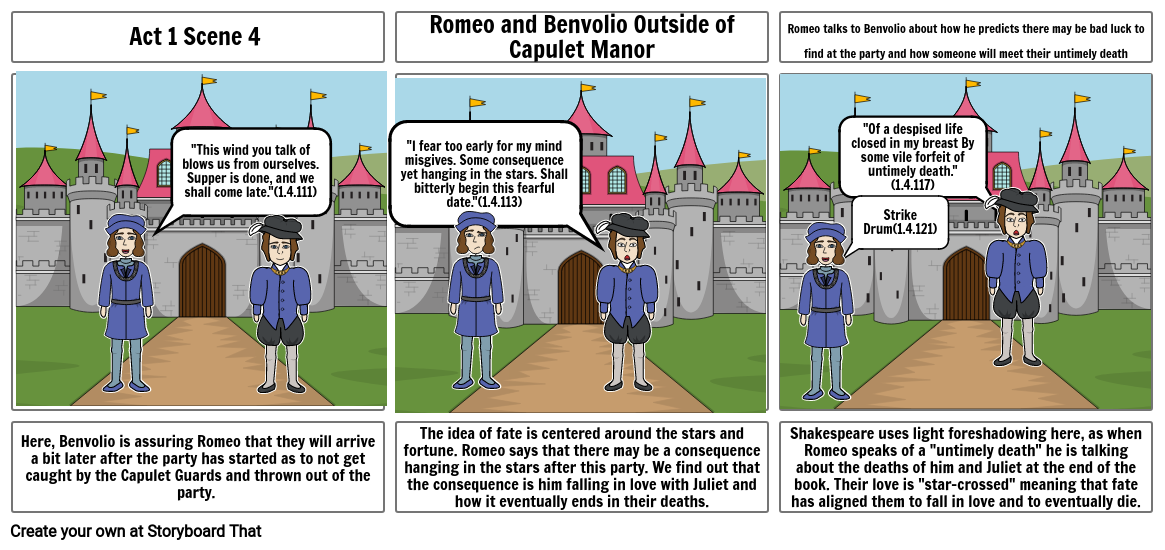 Romeo and Juliet Storyboard Assignment