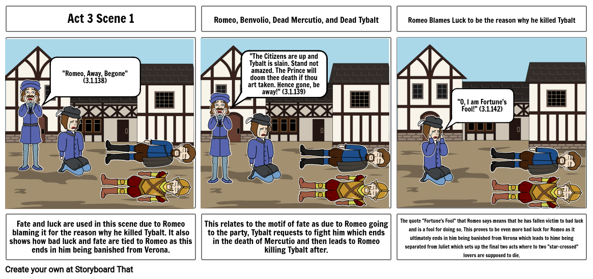 Romeo and Juliet Storyboard Project 2