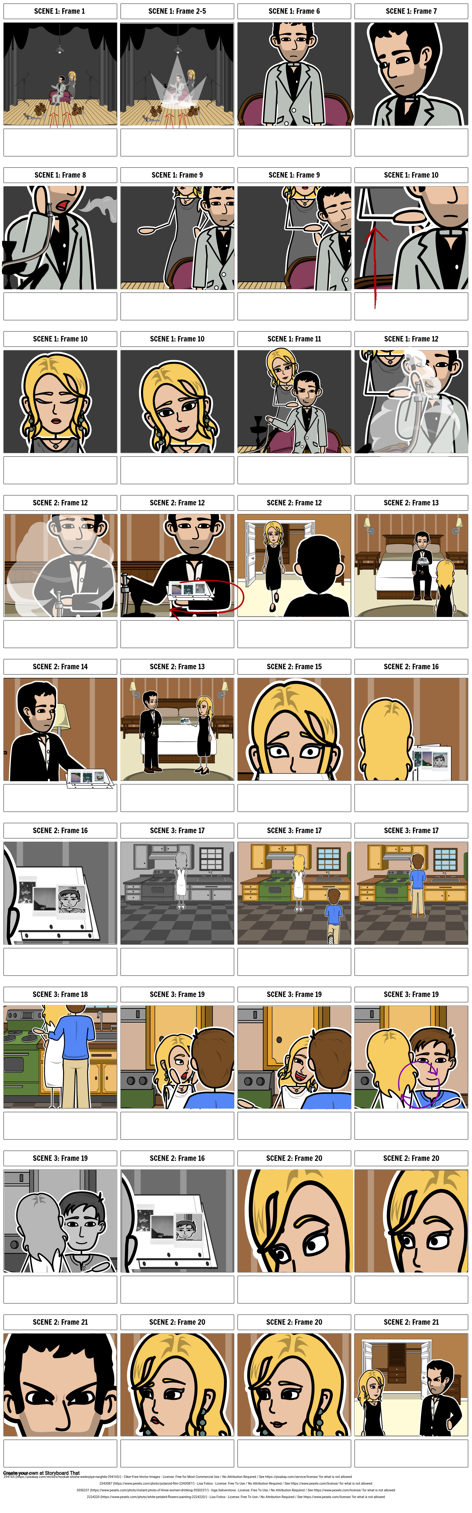 On A Trip Music Video Storyboard