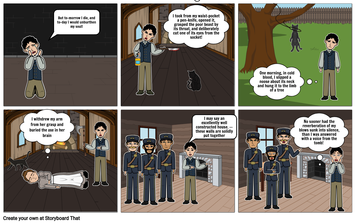 The Black Cat Storyboard