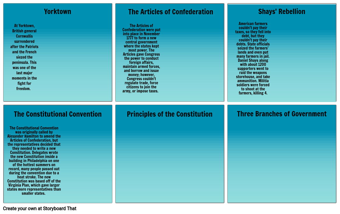 """EAC """"Creating Our Government"""" Storyboard"""
