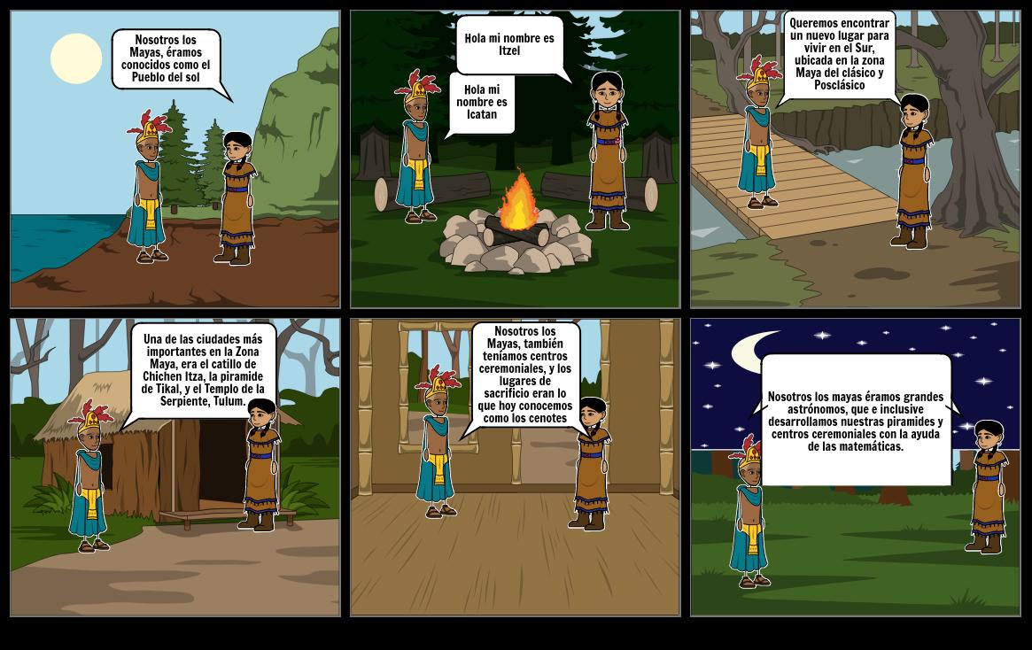Historieta de los mayas
