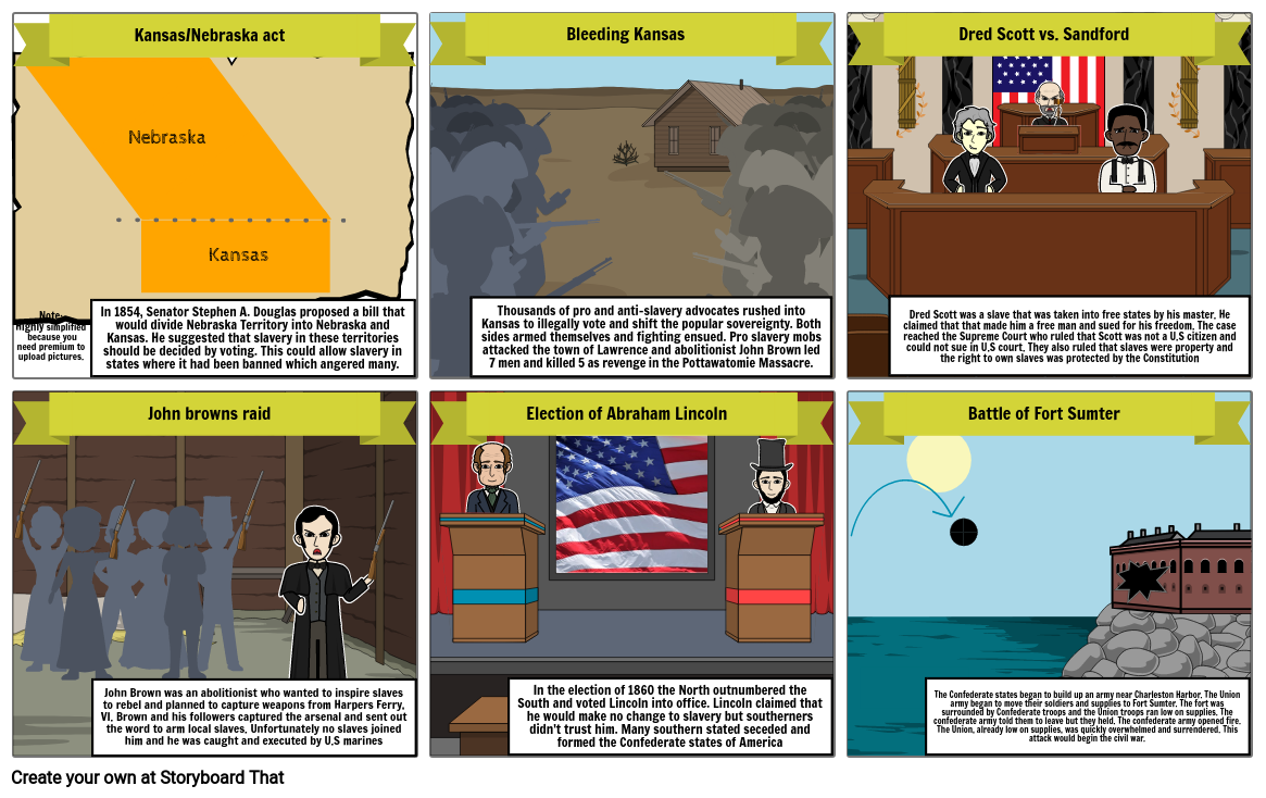 Causes of the Civil war comic