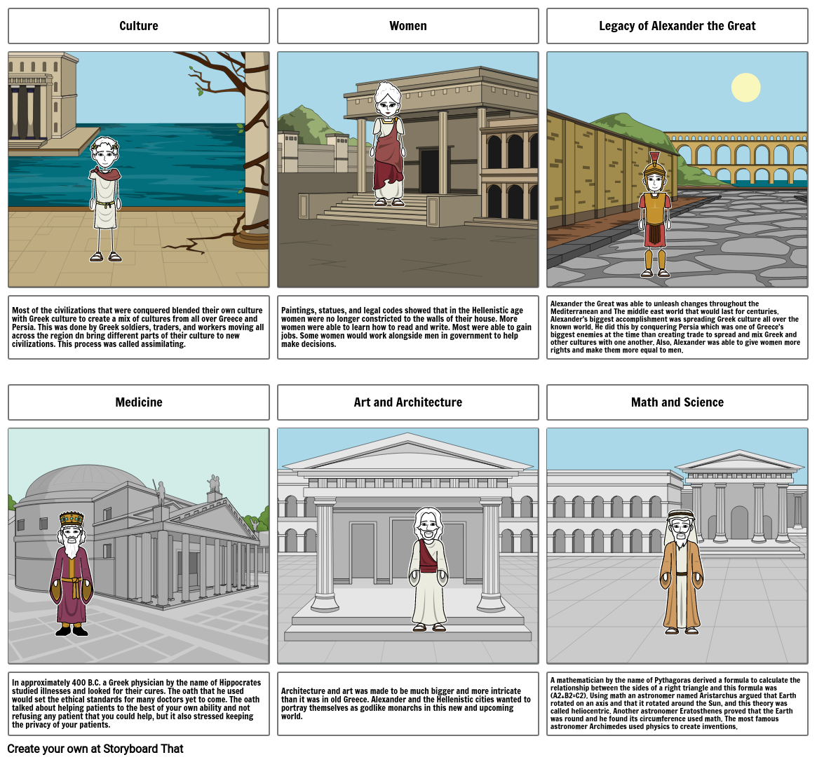Hellenistic Age Storyboard