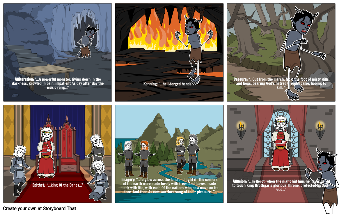 Beowulf literary devices