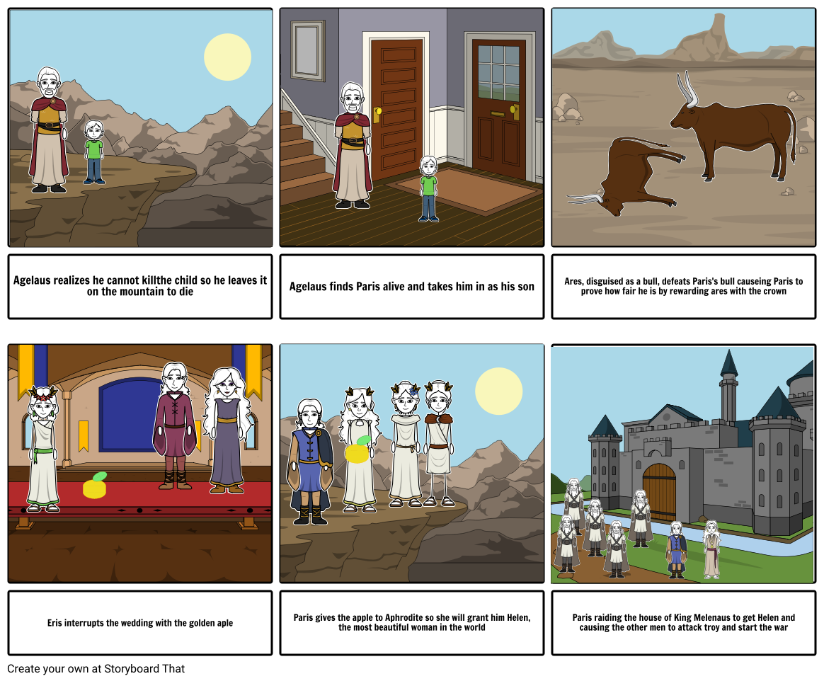 English Online lesson Storyboard