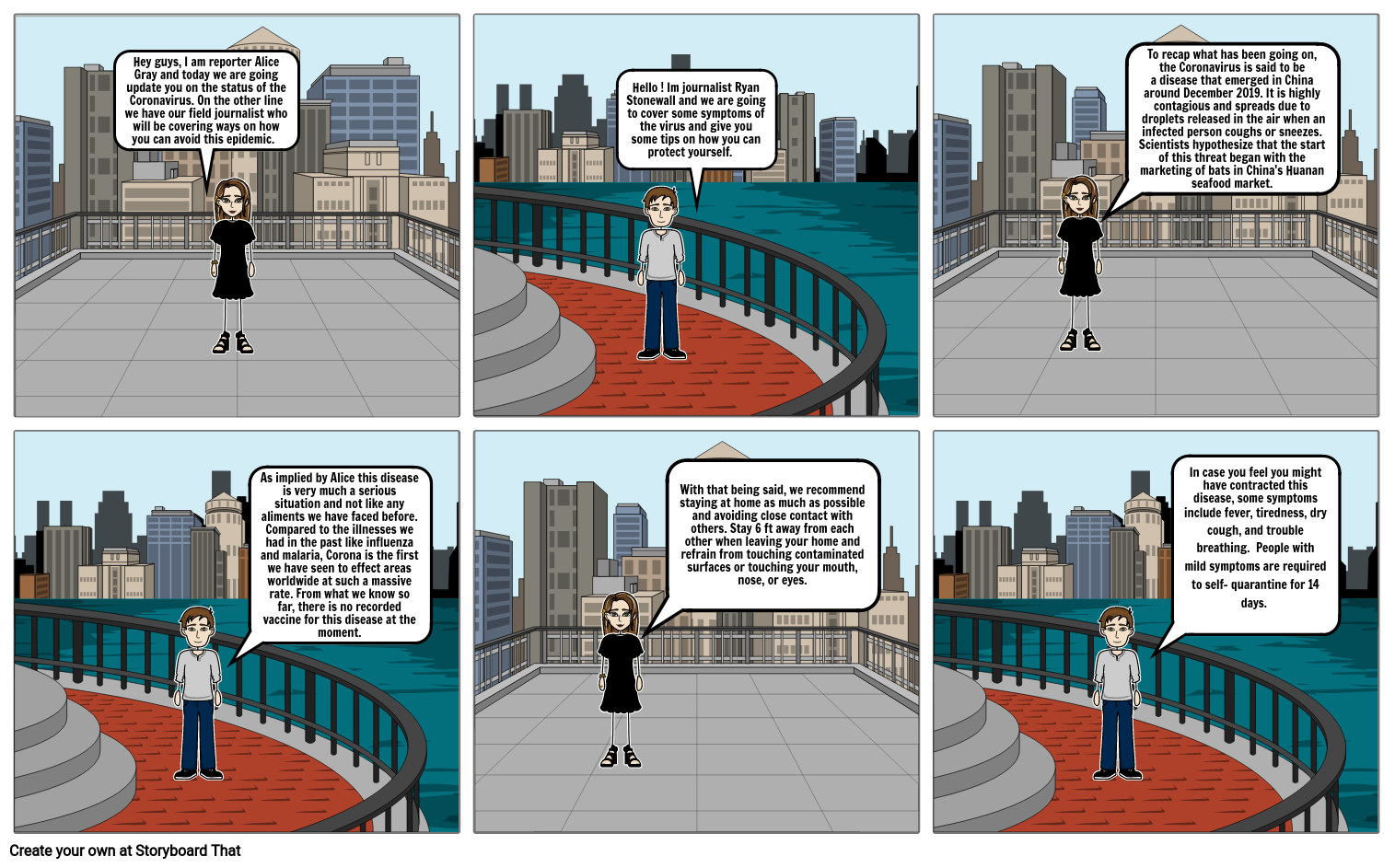 Coronavirus Comic Strip