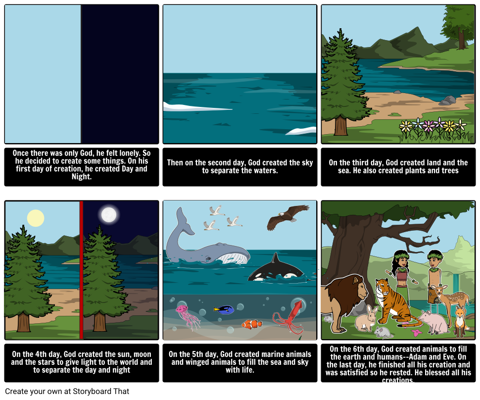 Prs Genesis Story 7 Days Of Creation Storyboard