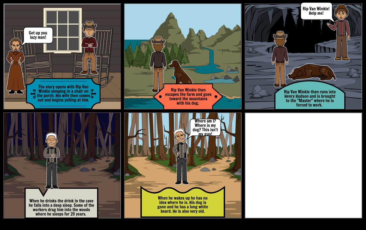 Story Board- Rip Van Winkle